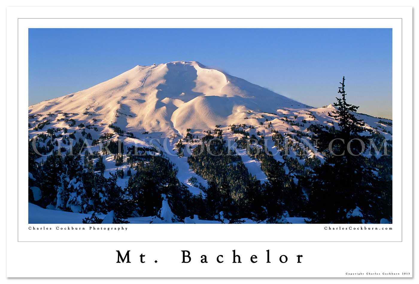 Mt. Bachelor Poster at CharlesCockburn.com