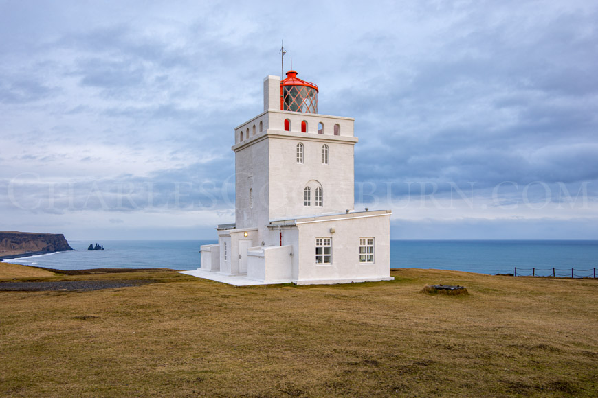 Dyrhólaey Lighthouse Iceland at CharlesCockburn.com