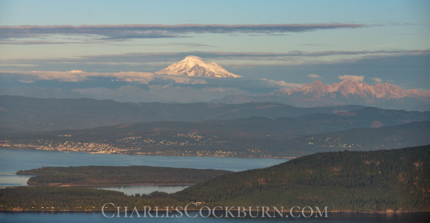 Mt. Baker from Mt. Constitution at CharlesCockburn.com