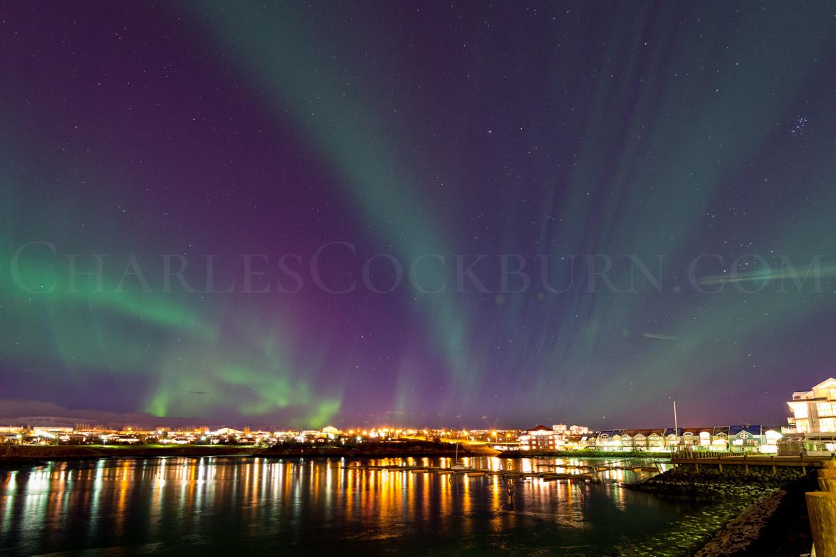 Aurora Over Reykjavík at CharlesCockburn.com