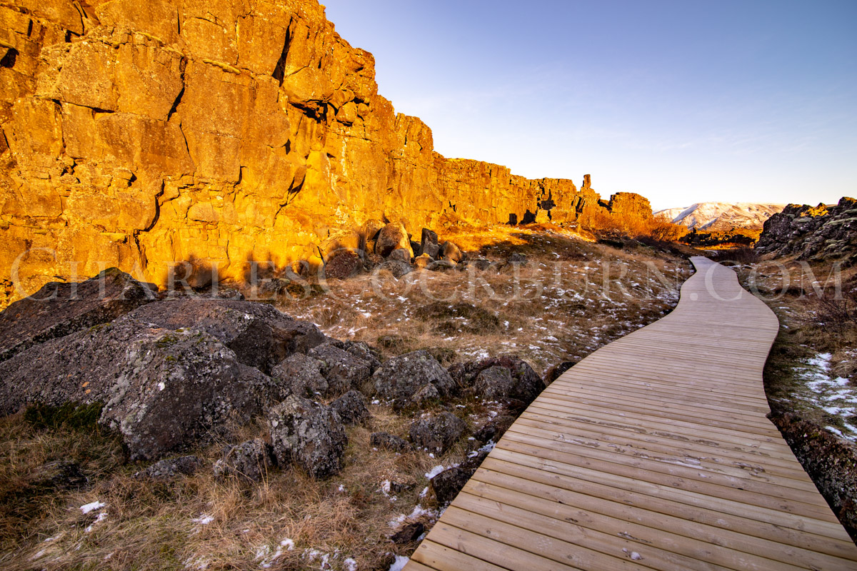 This Is The Way _ path through Thingvellir Natural Park Iceland at CharlesCockburn.com