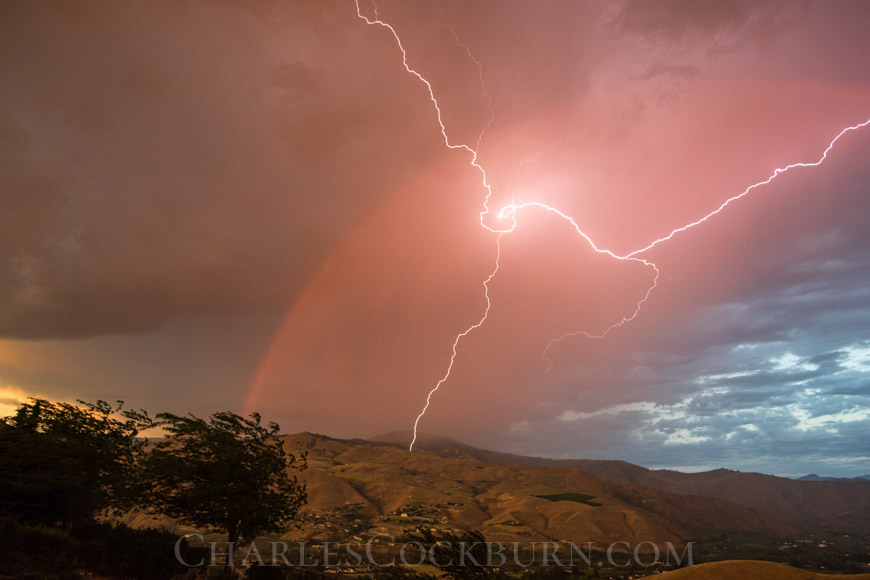 Lightning Over Horse Lake in Wenatchee at Charlescockburn.com