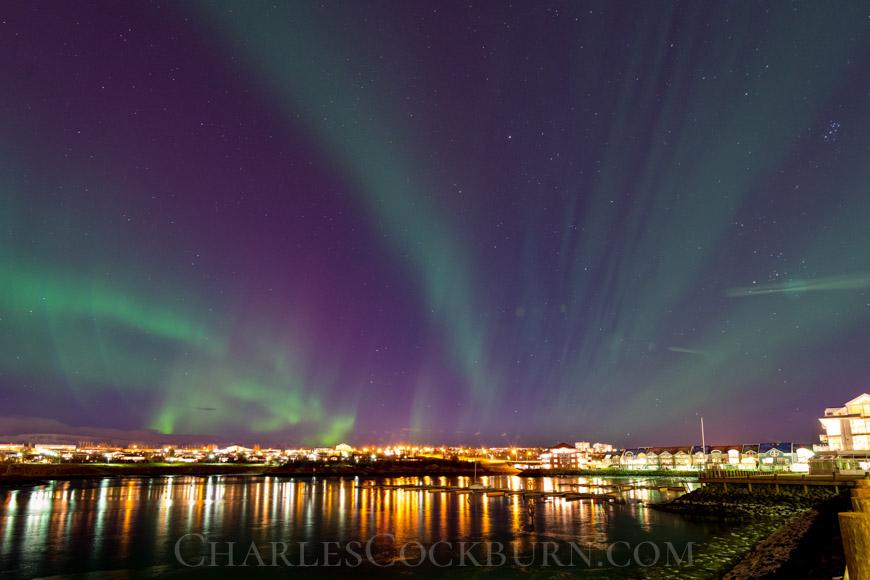 Aurora Over Reykjavik at CharlesCockburn.com