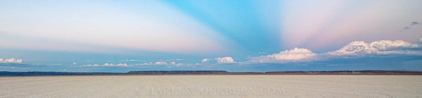Anti-crepuscular rays over the Alvord Desert at CharlesCockburn.com
