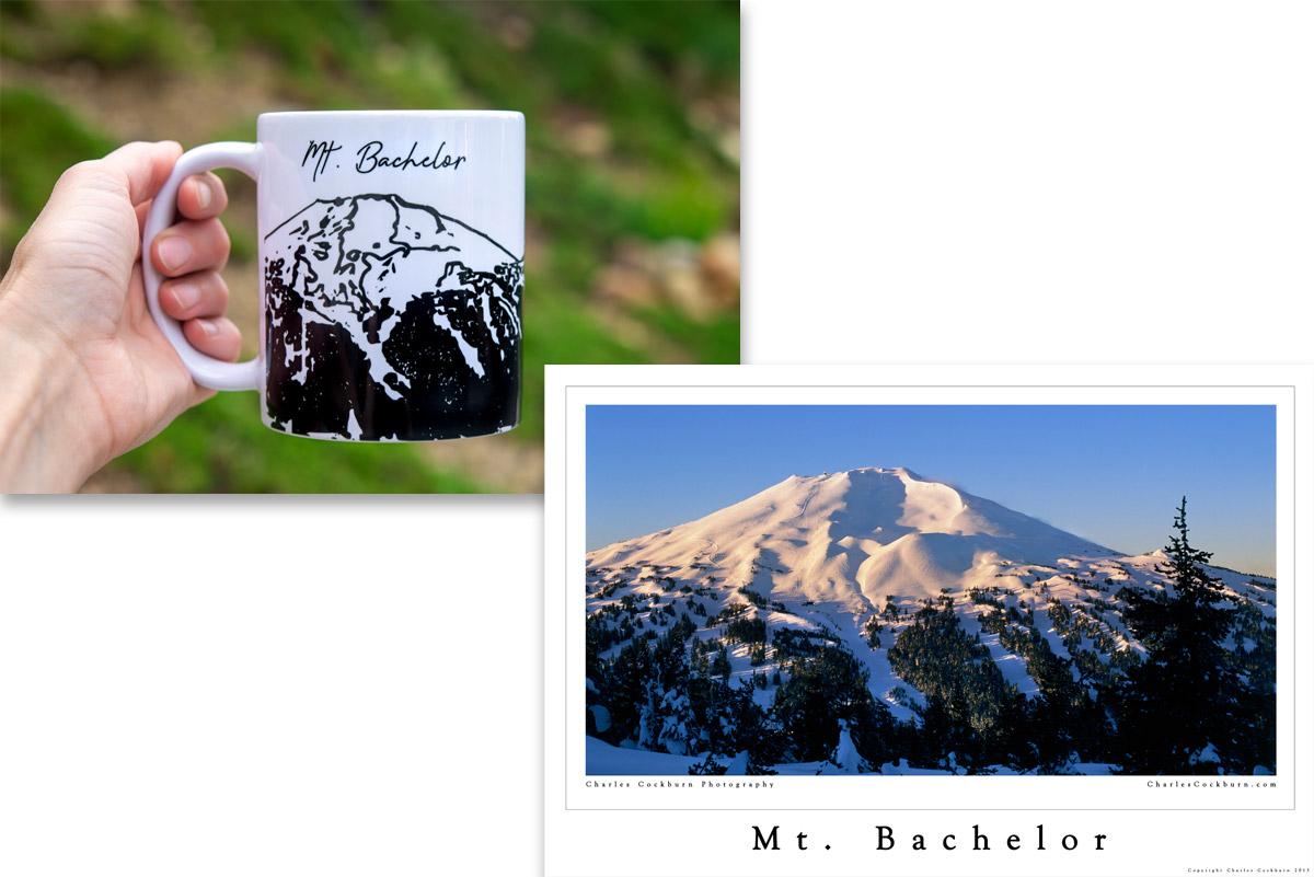 Mt. Bachelor mug and poster combo at CharlesCockburn.com